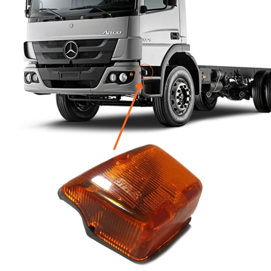 Par Lanterna Lateral Estribo Seta Pisca Para Caminhão Mercedes Benz Atego