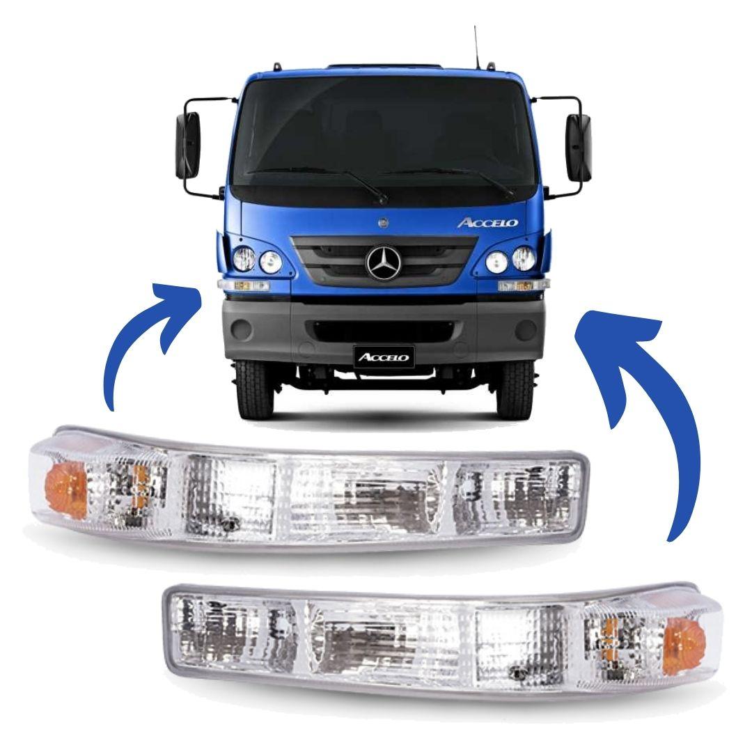 Par Lanterna Sinaleira Seta Frontal Caminhão Mercedes Benz Accelo