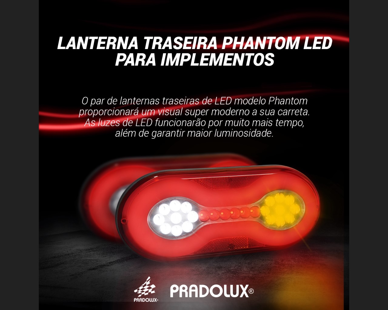 Par Lanterna Traseira Carreta Randon Universal Led 24V