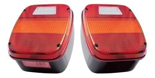 Par Lanterna Traseira Marmitão Caminhão Vw Ford Tricolor