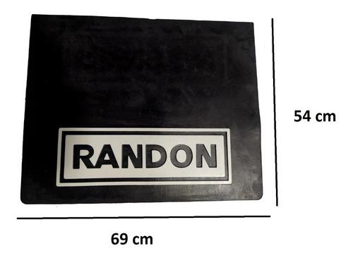 Parabarro Borracha Carreta Randon 69 X 54 Cm Lameiro