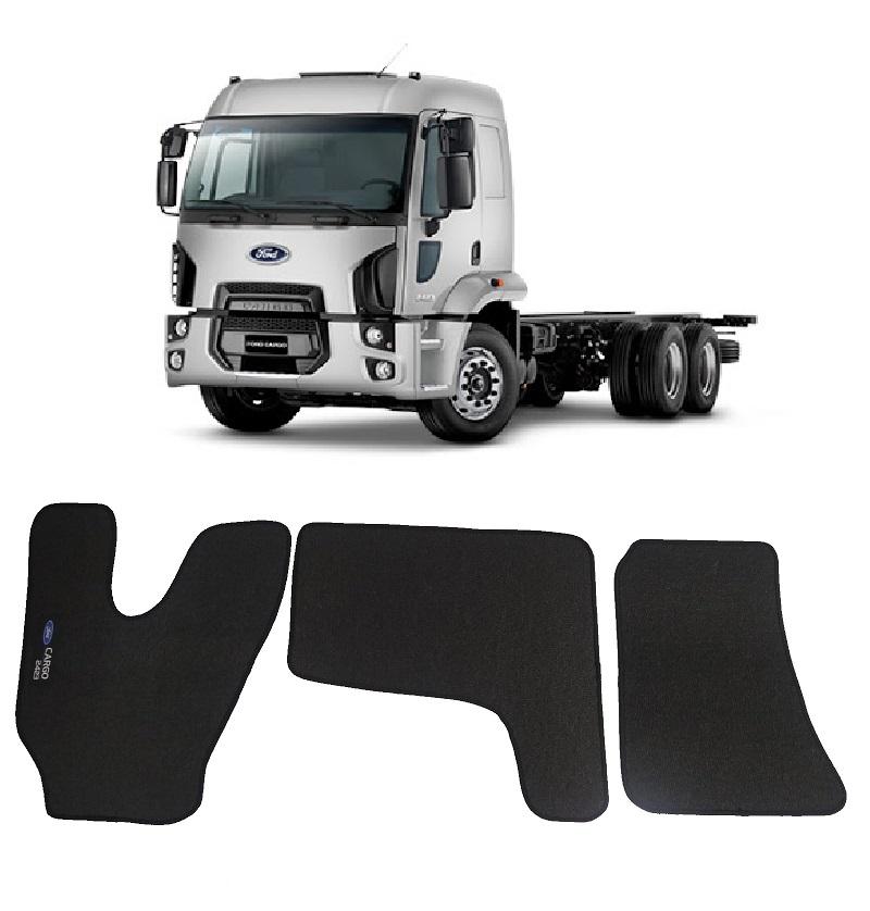 Tapete Caminhão Ford Cargo 2423 Cabine Moderna Borracha PVC