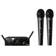 AKG WMS 40 Mini Dual Vocal Sistema de Microfone Sem Fio Vocal duplo