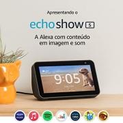 Amazon Echo Show 5 - Caixa Portátil  Bluetooth com LCD e Assistente Alexa