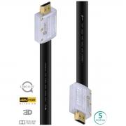 CABO HDMI 2.0 4K ULTRA HD 3D CONEXÃO ETHERNET FLAT COM CONECTOR DESMONTÁVEL 5 METROS - H20FL-5