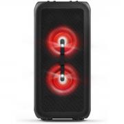 CAIXA DE SOM PARTY SPEAKER BLUETOOTH LED/USB/AUXILIAR 80W TANX200 PRETA