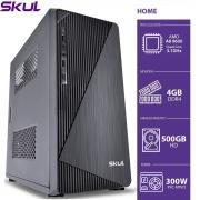 COMPUTADOR HOME H200 - AMD A8 9600 3.1GHZ 4GB DDR4 HD 500GB HDMI/VGA FONTE 300W
