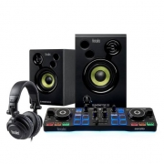 Controlador Hercules DJ Starter Kit com Fone + Caixa de Som