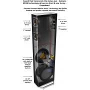 Definitive Technology BP9060 Caixa Torre Bipolar 3 vias 300W rms com sub ativo de 10 ( unid )