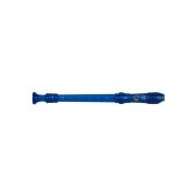 Flauta Doce Germanica Soprano Do Azul Transparente Dolphin