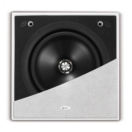 KEF CI200 QS - Caixa Acústica de embutir quadrada 2 vias 8 pol 150W ( unid ) - 5 Anos de Garantia