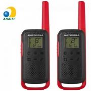 Rádio Comunicador Talkabout 32km T210BR Vermelho/Preto MOTOROLA - PAR / 2