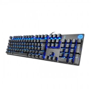 TECLADO GAMER USB MECÂNICO SWITCH BLUE GK400F LED AZUL PRETO