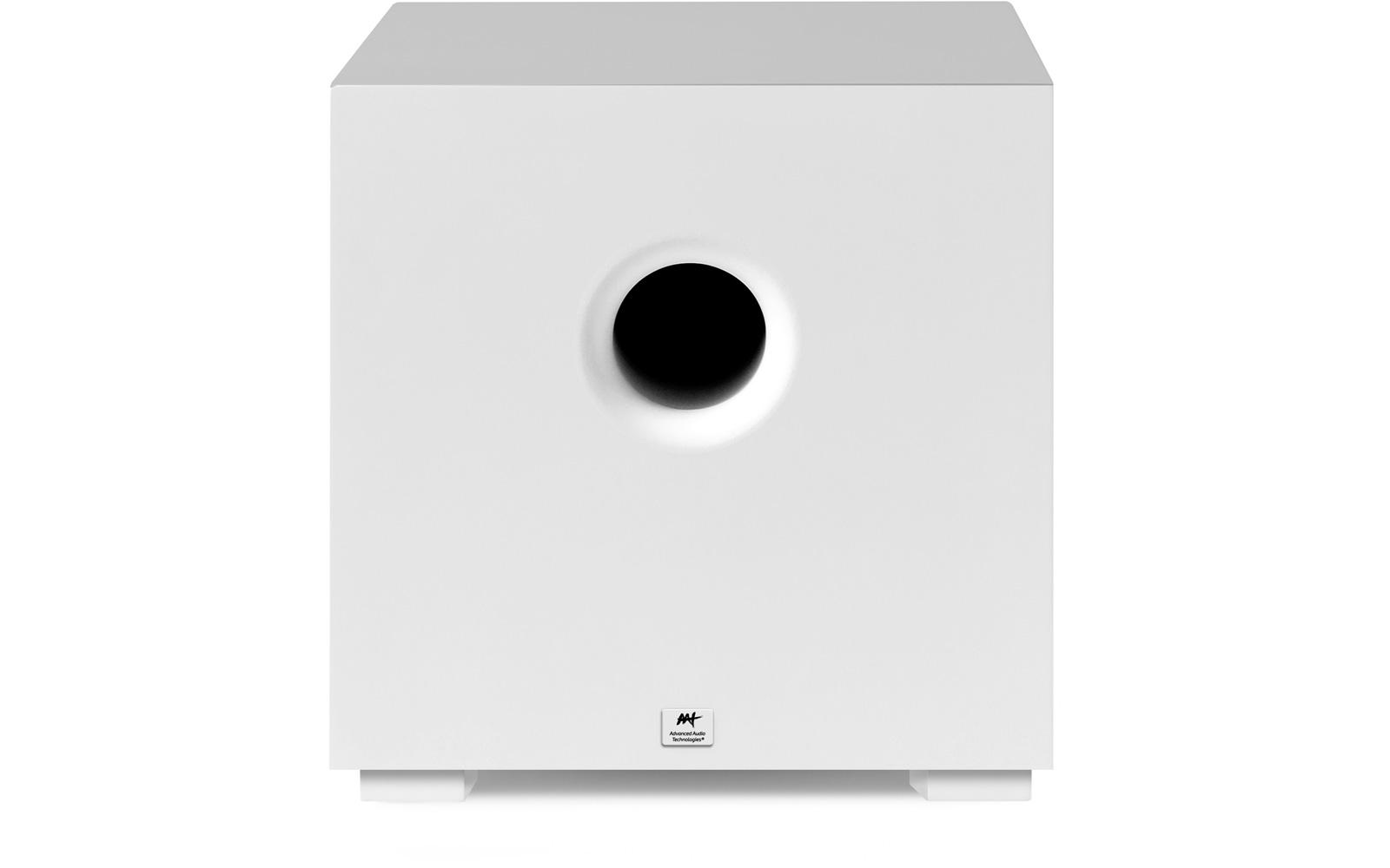 "AAT Compact Cube 10 Subwoofer ativo 10"" com 240W RMS Branco  - Audio Video & cia"