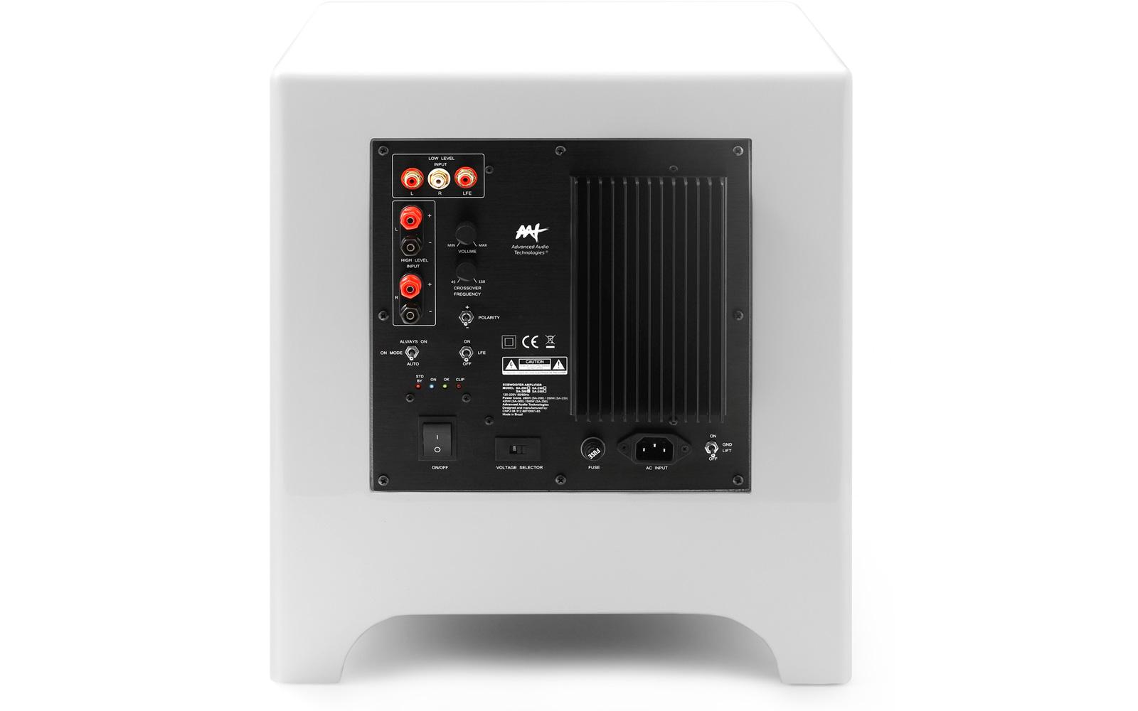 AAT Cube Modern 10 Subwoofer ativo 10 polegadas 500W RMS  - Audio Video & cia
