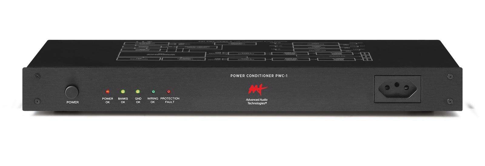 AAT PWC-1 - Condicionador de energia microprocessado com 8  tomadas traseiras e 1 frontal  - Audio Video & cia