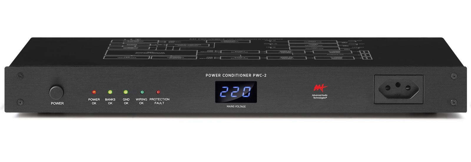 AAT PWC-2 - Condicionador de energia com DISPLAY microprocessado com 8 tomadas traseiras e 1 frontal.  - Audio Video & cia