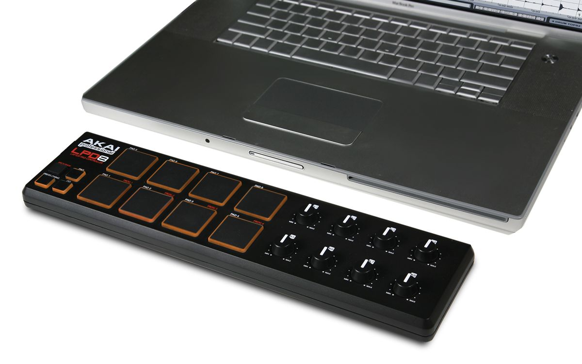 AKAI LPD8 v2 Controladora Midi USB  - Audio Video & cia