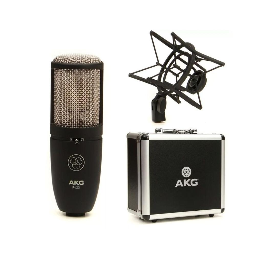 Akg P420 Microfone Cardióide para Studio  - Audio Video & cia