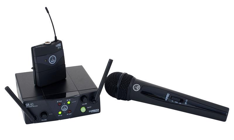 AKG WMS40 Mini2 Microfone Vocal + Instrumental US45A/C  - Audio Video & cia