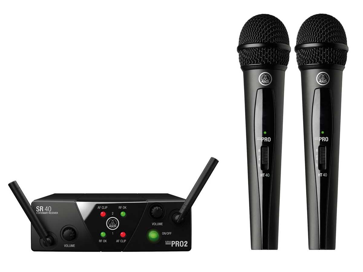 AKG WMS 40 Mini Dual Vocal Sistema de Microfone Sem Fio Vocal duplo  - Audio Video & cia