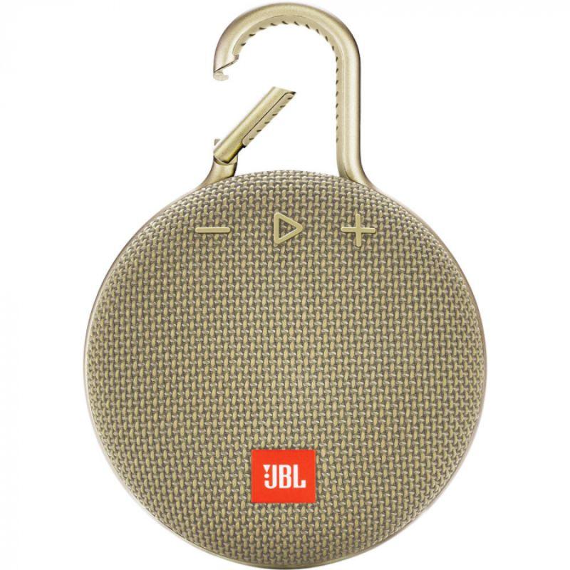 Alto-falante Jbl Clip 3 Portátil Com Bluetooth Areia  - Audio Video & cia