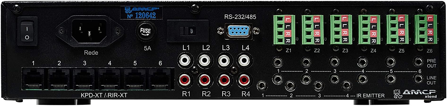 AMCP MR6.50D-XT Amplificador Multiroom de 6 zonas estereo 50W rms  - Audio Video & cia