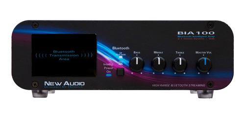 Amplificador Estereo Bluetooth New Audio BIA100 100Wrms  - Audio Video & cia
