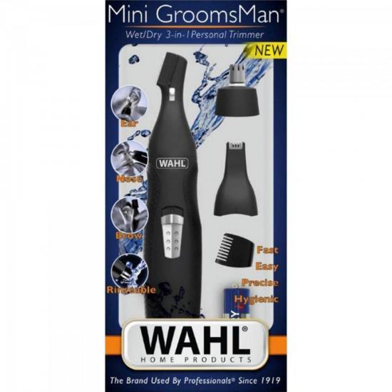 Aparador de pelos MINIGROOMSMAN 3X1 WAHL  - Audio Video & cia