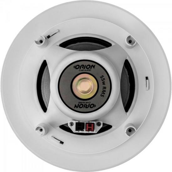 """Arandela 6"""" Coaxial 55W RMS Redonda AR6 Branca ORION  - Audio Video & cia"""
