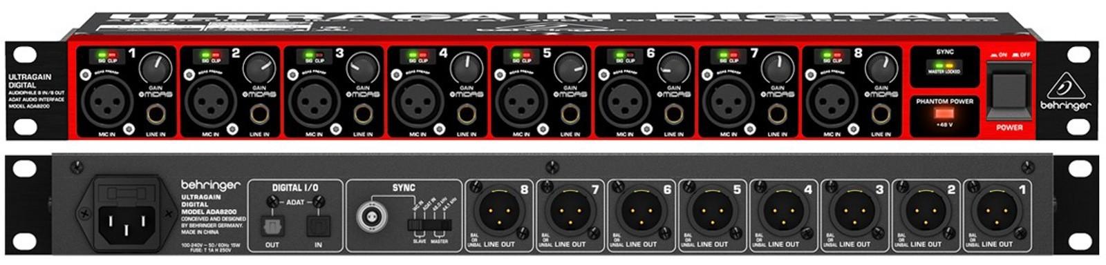 Behringer ADA8200 Conversor D/A & A/D  - Audio Video & cia