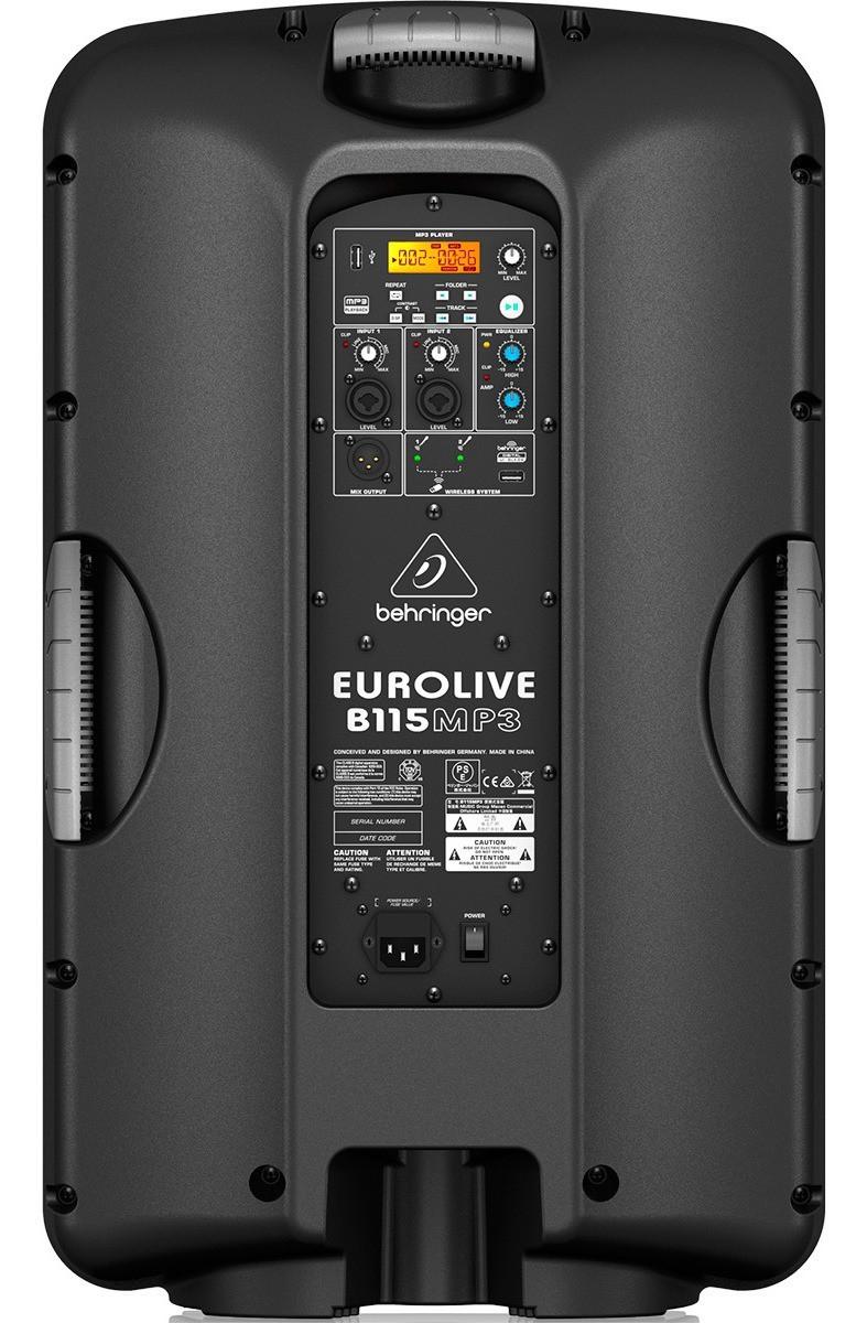 Behringer B115MP3 Caixa Acustica Ativa de 15 polegadas 1000W - 220V (unid)  - Audio Video & cia