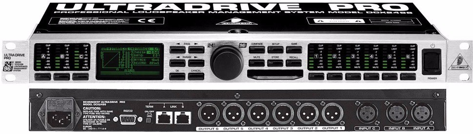 Behringer DCX2496 LE Processador de Audio  - Audio Video & cia