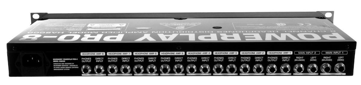 Behringer HA-8000 - Powerplay Amplificador de Fones  - Audio Video & cia
