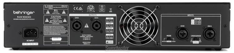 Behringer NX1000 Amplificador Potencia 1000W  - Audio Video & cia