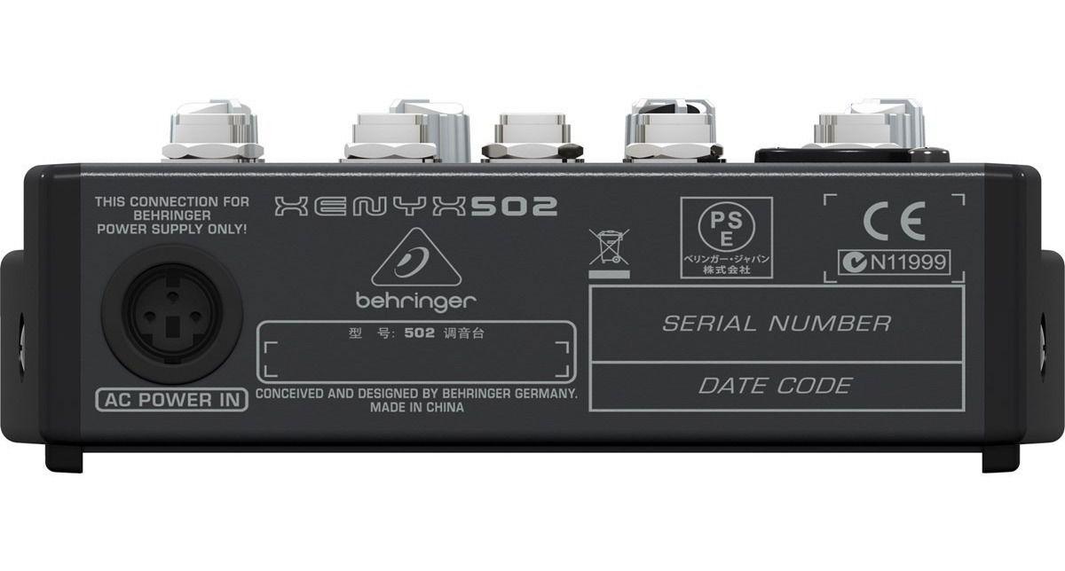 Behringer XENYX 502 Mesa de som  - Audio Video & cia