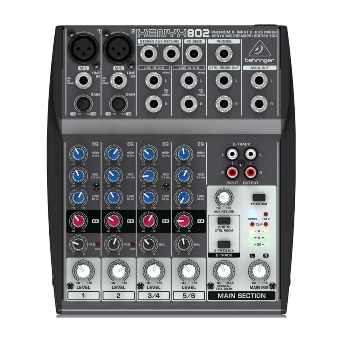 Behringer XENYX 802 Mesa de som  - Audio Video & cia