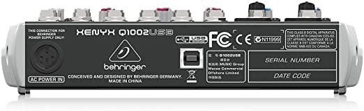 Behringer Xenyx QX1002USB Mesa de som  - Audio Video & cia