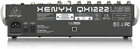 Behringer Xenyx QX1222USB Mesa de som  - Audio Video & cia