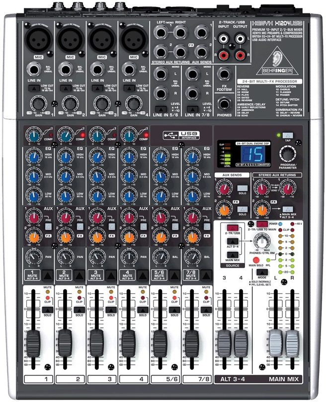 Behringer XENYX X1204USB Mesa de som  - Audio Video & cia