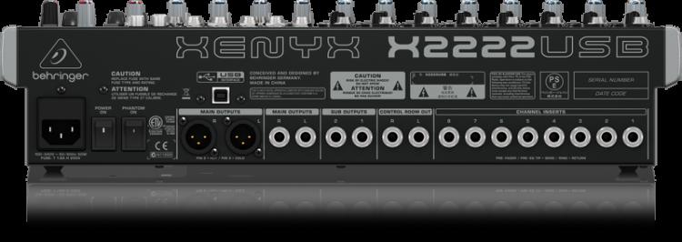 Behringer XENYX X2222USB Mesa de Som  - Audio Video & cia
