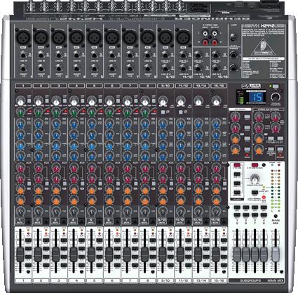 Behringer XENYX X2442USB Mesa de som 24 canais com Efeitos  - Audio Video & cia