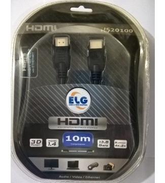 Cabo Hdmi ELG Hs20100 10m  - Audio Video & cia