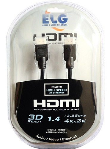 Cabo Hdmi ELG Hs2050 5m  - Audio Video & cia