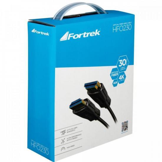 Cabo HDMI Fibra Optica 2.0 4K HFO230 30M FORTREK  - Audio Video & cia
