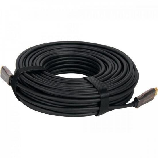 Cabo HDMI Fibra Optica 2.0 4K HFO240 40M FORTREK  - Audio Video & cia