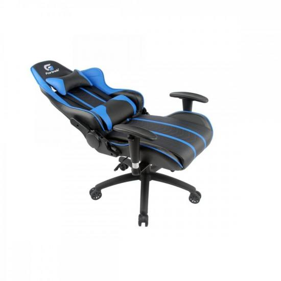 Cadeira Gamer Black Hawk Preta/Azul FORTREK  - Audio Video & cia