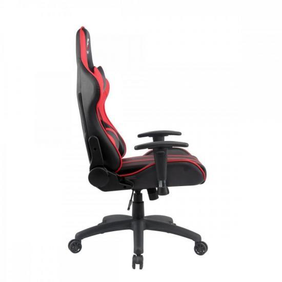 Cadeira Gamer Black Hawk Preta/Vermelha FORTREK  - Audio Video & cia