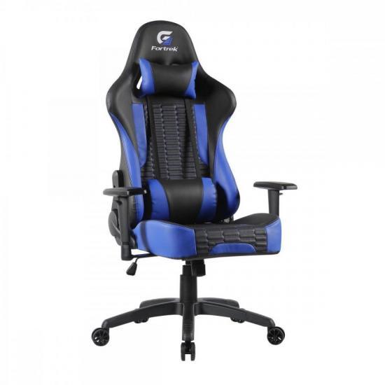 Cadeira Gamer Cruiser Preta/Azul FORTREK  - Audio Video & cia