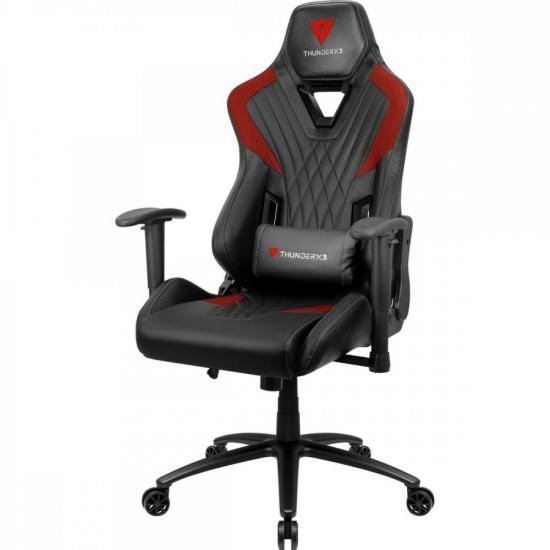 Cadeira Gamer DC3 Preta/Vermelha THUNDERX3  - Audio Video & cia
